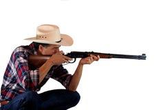 Cowboy do tiro Imagem de Stock Royalty Free