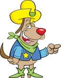 Cowboy dog Royalty Free Stock Photography