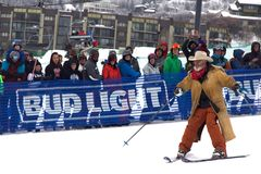 Cowboy Downhill Stampede. Photo from Steamboat Springs` 2017 Bud Light Cowboy Downhill Royalty Free Stock Images