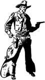 Cowboy Drawing Pistol Stock Photography