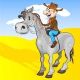 Cowboy e cavallo illustrazione di stock