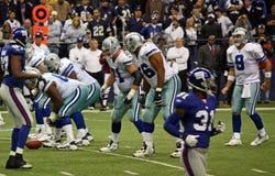 Cowboy e Giants con Tony Romo Fotografia Stock Libera da Diritti