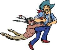 Cowboy e Indian Imagens de Stock Royalty Free