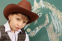 Cowboy en paard Royalty-vrije Stock Afbeelding