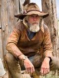 Cowboy esposto all'aria anziano Immagini Stock Libere da Diritti