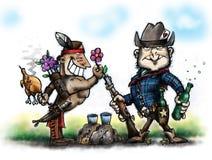 Cowboy et Indien illustration stock
