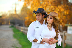 Cowboy et sa cow-girl Photo stock