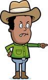 Cowboy fâché Image stock