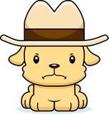 Cowboy fâché Puppy de bande dessinée Photos libres de droits
