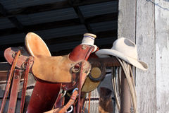 Cowboy fait pour le jour de Th Images libres de droits