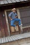 Cowboy felice Fotografia Stock