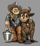 Cowboy felice Immagini Stock Libere da Diritti