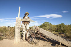 Cowboy figure in Giles ghost town. Royalty Free Stock Image