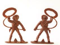 Free Cowboy Figure Model Toy / Isolated White Royalty Free Stock Image - 106310336