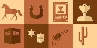 Cowboy flat design Royalty Free Stock Images