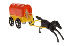 Cowboy frontier wagon toy Royalty Free Stock Image