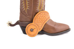 Cowboy gear. Western riding equipment, spurs Stock Photo