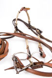 Cowboy gear. Western riding equipment, Headstall Royalty Free Stock Photo