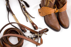 Cowboy gear. Western riding equipment Royalty Free Stock Photos