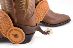 Cowboy gear. Western riding equipment, spurs Stock Image