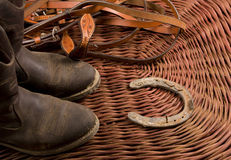 Cowboy gear. Western riding equipment Royalty Free Stock Photo