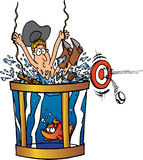 Cowboy getting dunked Royalty Free Stock Image