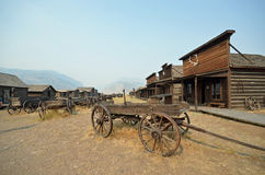 Cowboy ghost town Stock Images