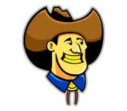 Cowboy giallo dei denti illustrazione di stock