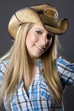 Cowboy girl Royalty Free Stock Images
