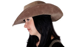 Cowboy girl  isolated Stock Photography