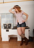 Cowboy girl Royalty Free Stock Photos