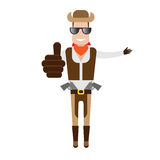 Cowboy in glasses Royalty Free Stock Image
