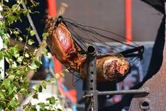 Cowboy-Grill-Schwein Stockfoto