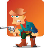 Cowboy with gun. Cowboy holding a gun in his right hand Stock Photos
