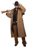 Cowboy with gun Stock Images