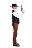 Cowboy with a gun Royalty Free Stock Images