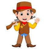 Cowboy with a gun Stock Photo