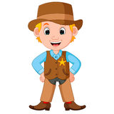 Cowboy with a gun. Cartoon cowboy with a gun Royalty Free Stock Photo