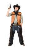 Cowboy with a gun in hand Stock Photos