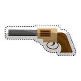 Cowboy gun isolated icon Stock Photos