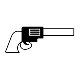 Cowboy gun isolated icon Stock Photography
