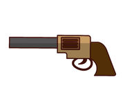 Cowboy gun isolated icon Stock Image