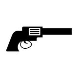 Cowboy gun isolated icon Royalty Free Stock Photo