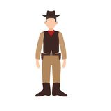 Cowboy with Gun. Cowboy, gun, west icon vector image. Can also be used for people. Suitable for web apps, mobile apps and print media Royalty Free Stock Images