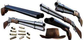 Cowboy guns Stock Photo