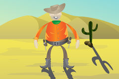 Cowboy with guns Royalty Free Stock Image