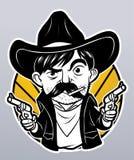 Cowboy with guns Royalty Free Stock Photos