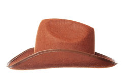 Cowboy hat. Brown cowboy hat isolated over white background Stock Image