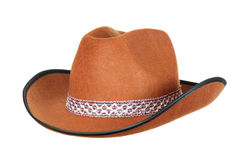 Cowboy Hat. Brown Cowboy Hat isolated on white Stock Photos