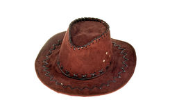 Cowboy hat. On the white background Royalty Free Stock Image